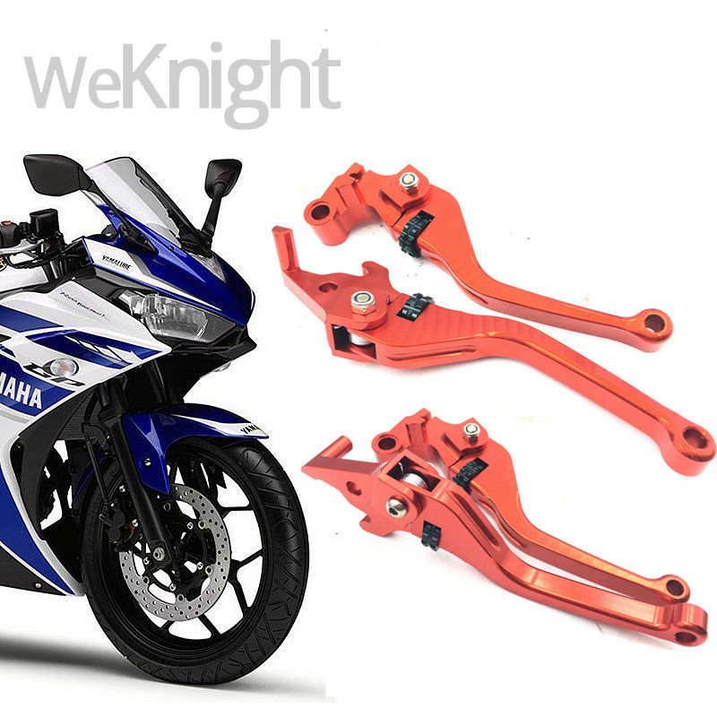 ФОТО CNC aluminum Motorcycle Parts Motorcycles modified accessories CNC Brake Clutch Levers For Yamaha YZF R25 2015 2016