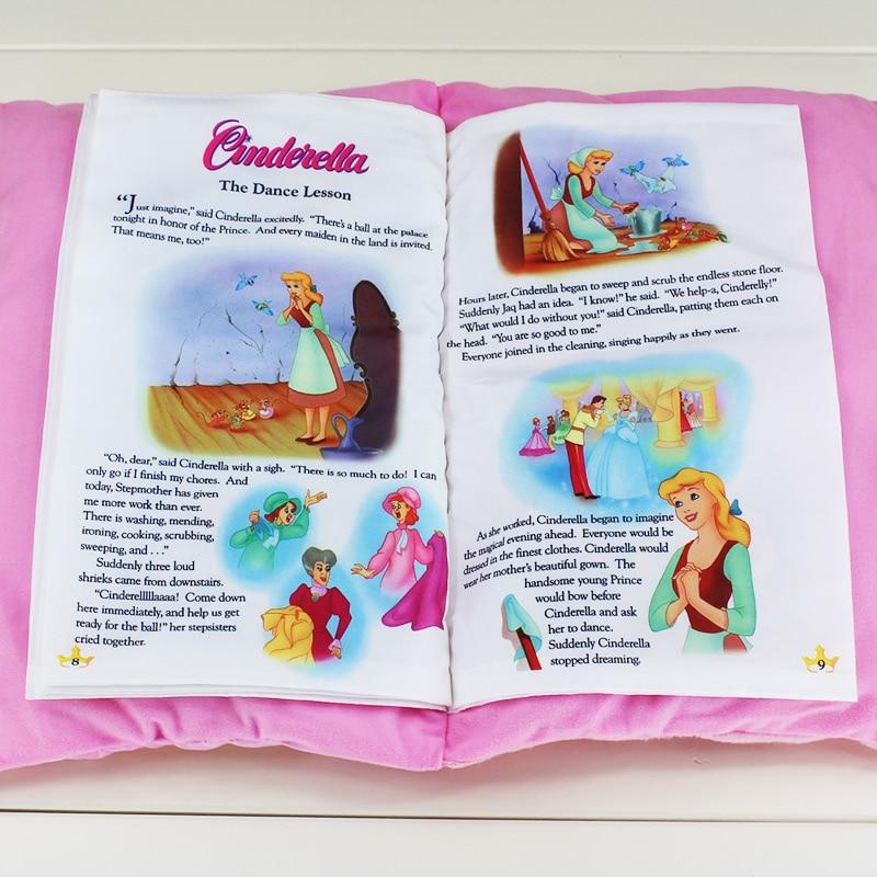 Princess Snow white Seven Dwarfs Cinderella Toy Baby Plush Cloth Book Kids Early Development Cloth Books