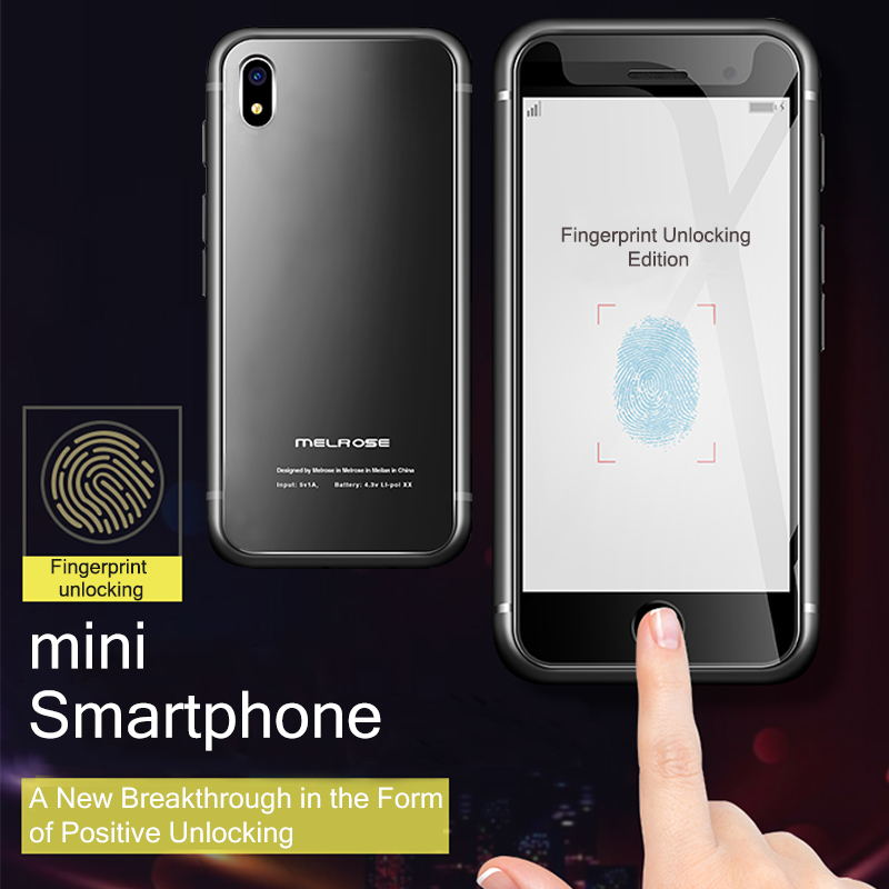 S9 Fingerprint Enhanced Ultra-Thin Mini Student <font><b>Smartphone</b></font> Game Store <font><b>Android</b></font> <font><b>7.0</b></font> Quad-Core <font><b>Smartphone</b></font> image