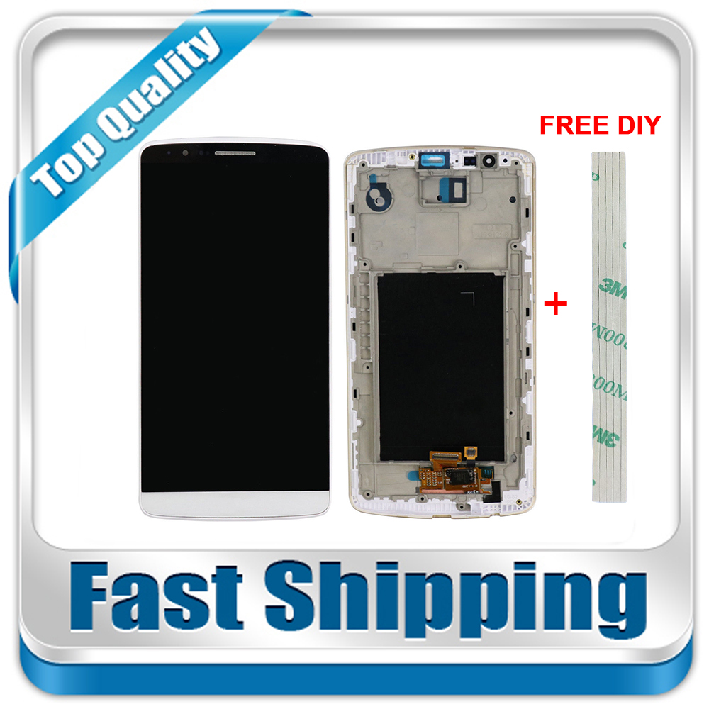 Color : White Touch Panel with Frame for LG G3 // D850 // D851 // D855 // VS985 LCD Screen Mobile Phone LCD Display Black
