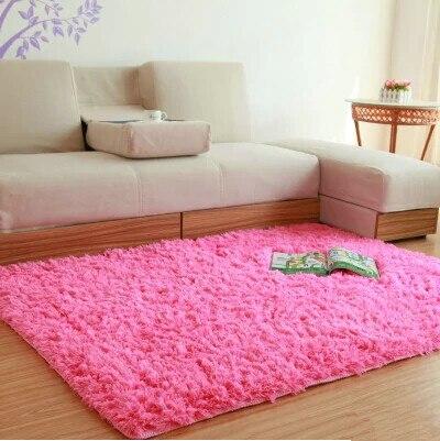 4.5 cm Thick Modern Soft Fluffy Long Pile Shaggy Plush Machine Washable Bedroom Living Room Carpet Rug Home Decor Floor Mat