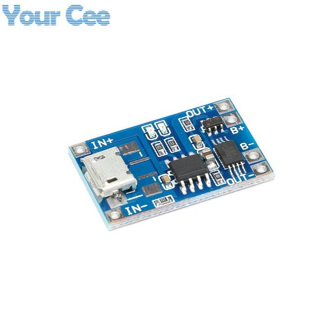 2 шт Micro USB 5 V 1A 18650 TP4056 литиевых модуль зарядного устройства аккумулятора зарядки доска с защитой двойной функции 1A литий-ионный аккумулятор