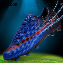 b8127c8c41d Football Shoes Men Soles Anti Slip Professional Training Sneakers Sports  Soccer Shoes Cheap Youth Football Training