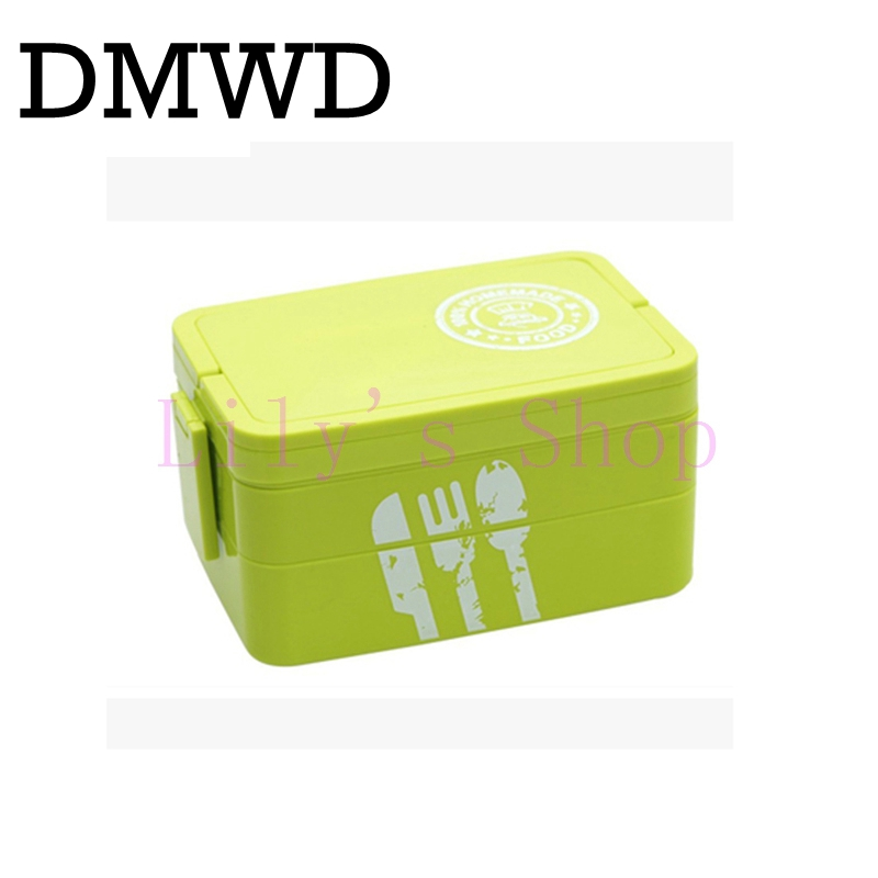 Two-Layers Microwave lunch box containers Rectangle sushi lunchbox lunch box large capacity multi-students Food Dinnerware Sets aosbos fashion portable insulated canvas lunch bag thermal food picnic lunch bags for women kids men cooler lunch box bag tote