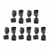 5Pairs MT60 3 5mm 3 Pole Bullet Stecker Male & Female Für RC ESC  um Motor Jan Whosale & DropShip