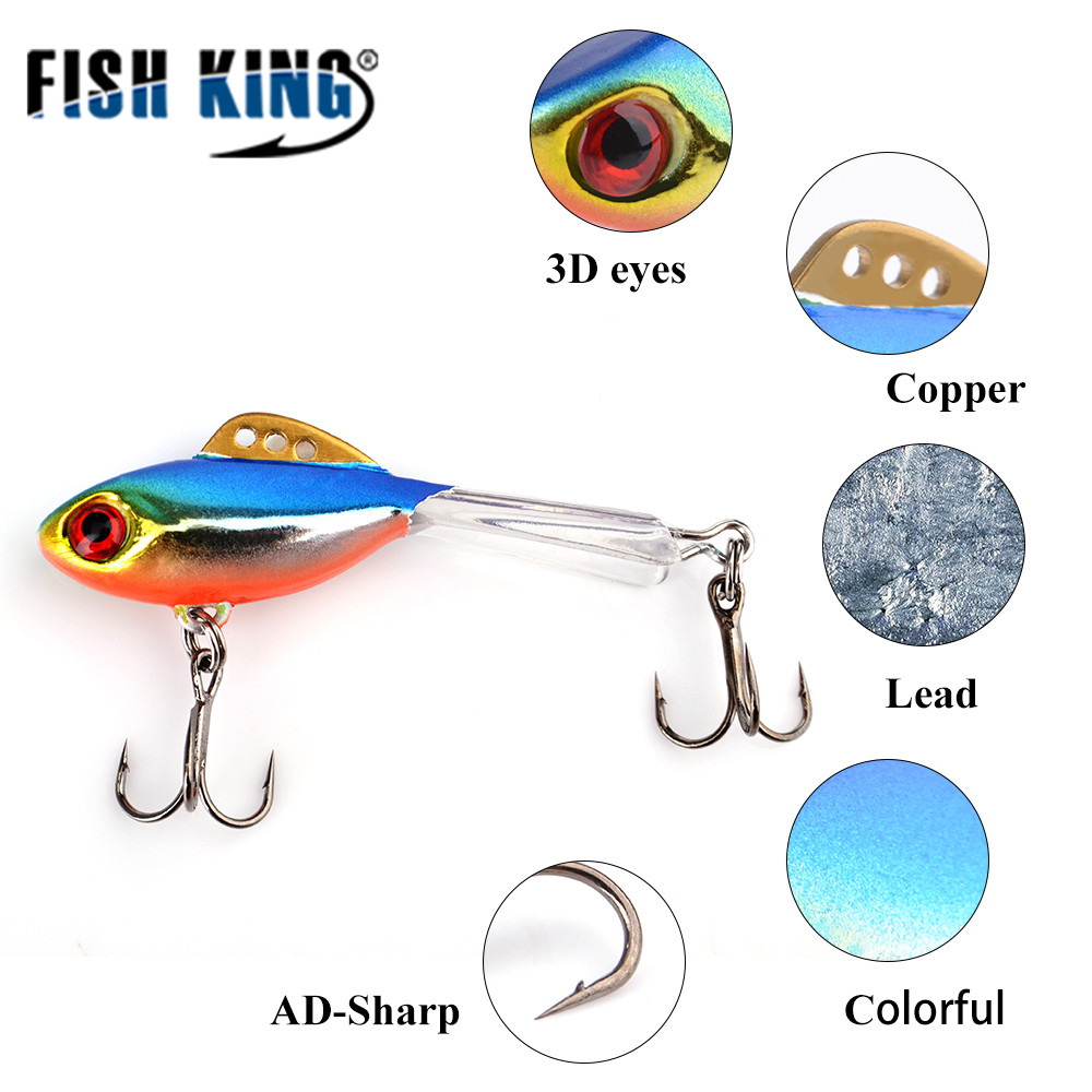 FISH KING 1PC Ice Fishing Lures Winter Bait Hard Lure Balancer For Fishing Baits Lead Jigging