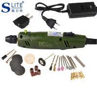 Slite Mini Elektrische Grinder Bohrer DIY Engraver Carve Kit Maschine Dremel Zubehör Variable Geschwindigkeit Schärfen Messer