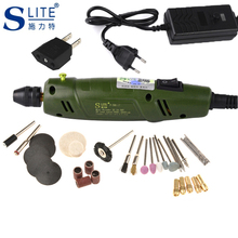 цена на Slite Mini Electric Grinder Drill DIY Engraver Carve Kit  Machine Dremel Accessories Variable Speed Sharpening Knives