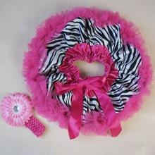 Детские юбки-пачки для новорожденных с принтом зебры, головная повязка для новорожденных, комплект детской одежды
