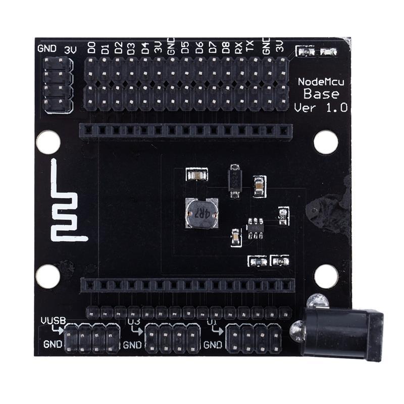 1 Pcs Black Metal ESP8266 Wifi Development Board Base Expander Board Compatible With NodeMcu Lua V3 Base Board 6*6*1.15cm