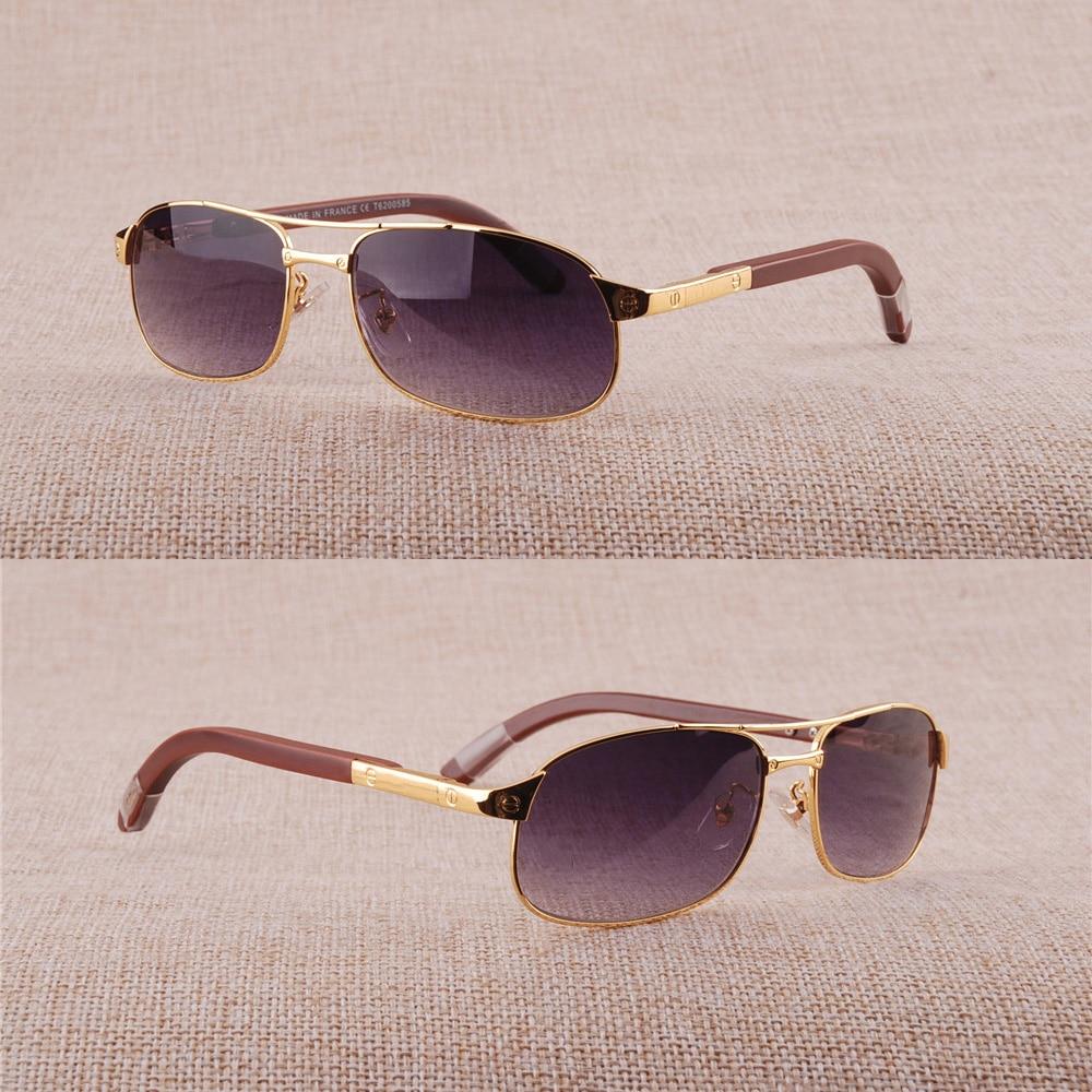 Vazrobe Sunglasses Men Brand designer Sun Glasses for Man Wood spring hinge Gold Silver Fashion Luxury mens Sunglass brown UV400