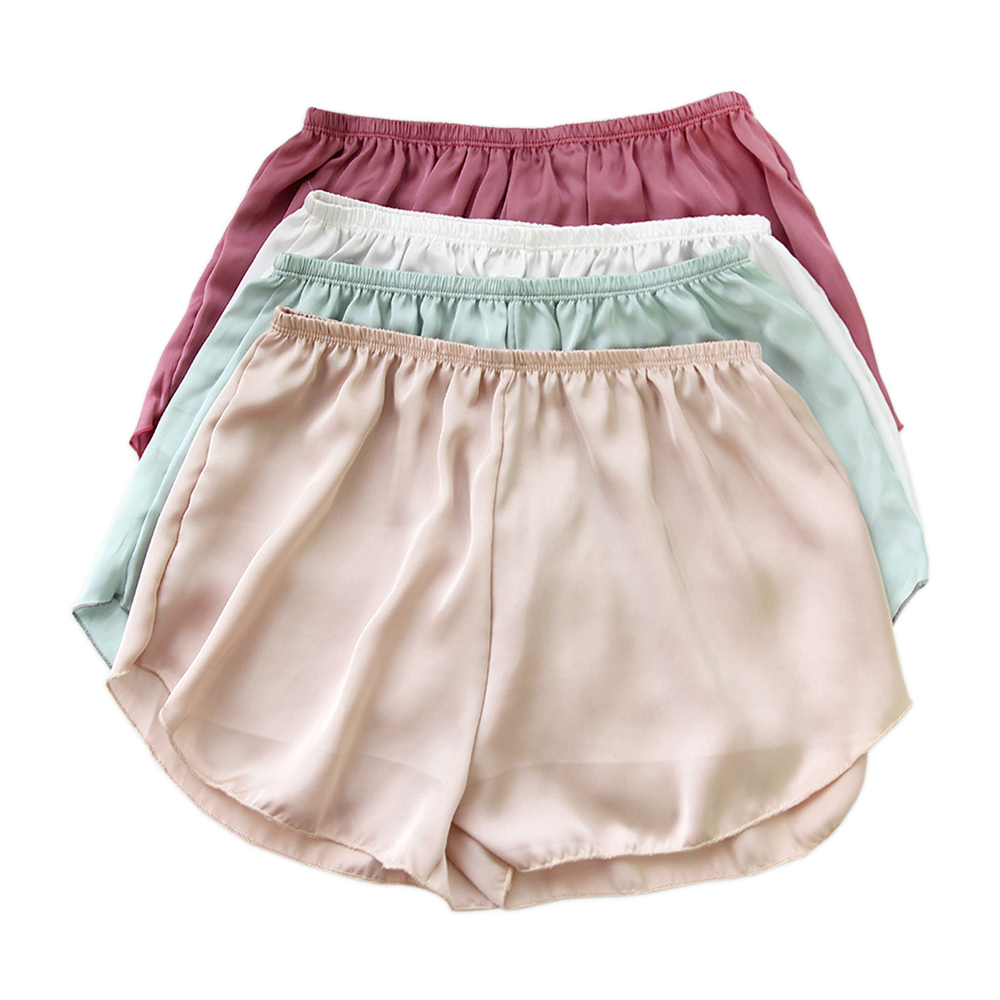 2020 New Hot Sale Cool Silky Shorts Summer Sleep Bottoms Women Sexy Cozy Pure Color Simple Sleep Shorts For Women N487 NA005