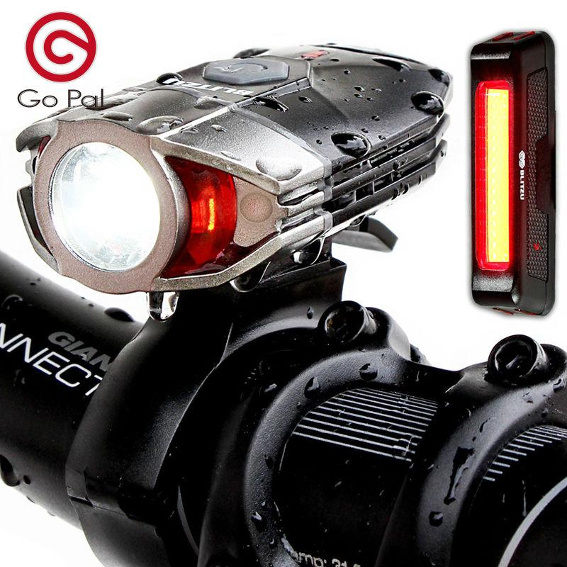 Prix pour Lumière de vélo Bike Phare-Feu arrière Inclus 380 Lumens LED Avant Lumière Et Étanche Facile D'installation de Sécurité lampe de Poche.