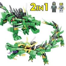 417Pcs Lloyd Green Dragon Ninja Toy Toy Blocks Dragon Ball Action Գործող Նկար Legoings Ninjago Building Bricks Toys for Children