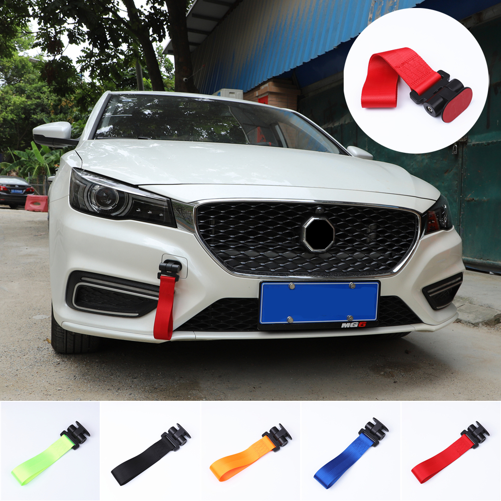 CHENTAOCS Towing Rope Nylon Tow Eye Strap Tow Loop Strap Racing Drift Rally Emergency Tool Paste Color Name : Black