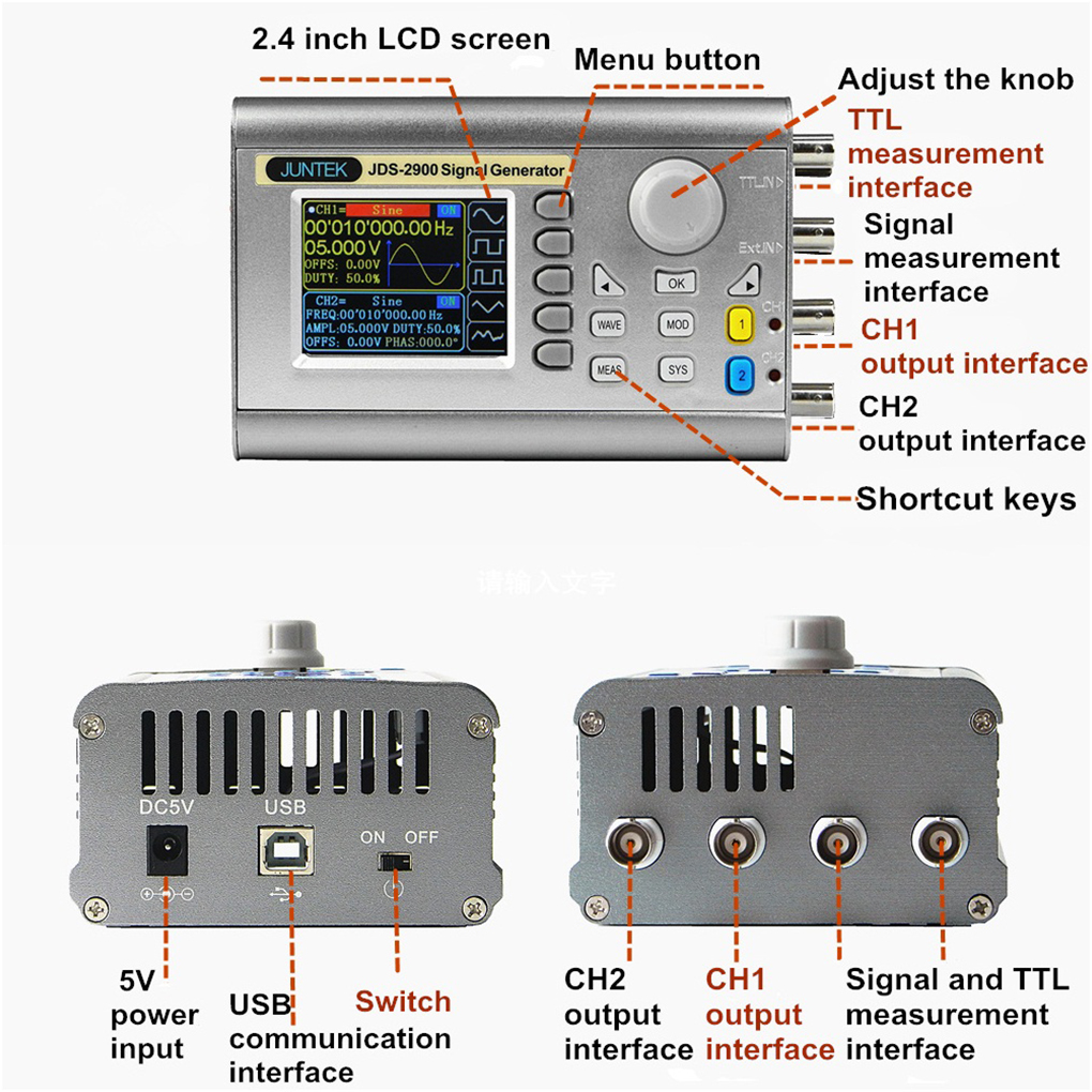 Eu Us 30mhz Dds Signal Generator Counter Arbitray Waveform Short Circuit Pulse Frequency Meter Protection In Generators From Tools
