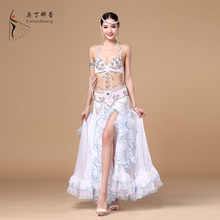 New Arrival Belly Dance Costumes Performance Dance Clothing Sexy Set Of Bra Skirt Belt Danza Del Vientre