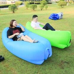 Esteira de Acampamento de Dobramento rápida Laybag Saco Sofá Preguiçoso Sofá De Ar Inflável Almofada de Dormir Saco Cama de Adulto Ar Salão Cadeira de Acampamento colchão