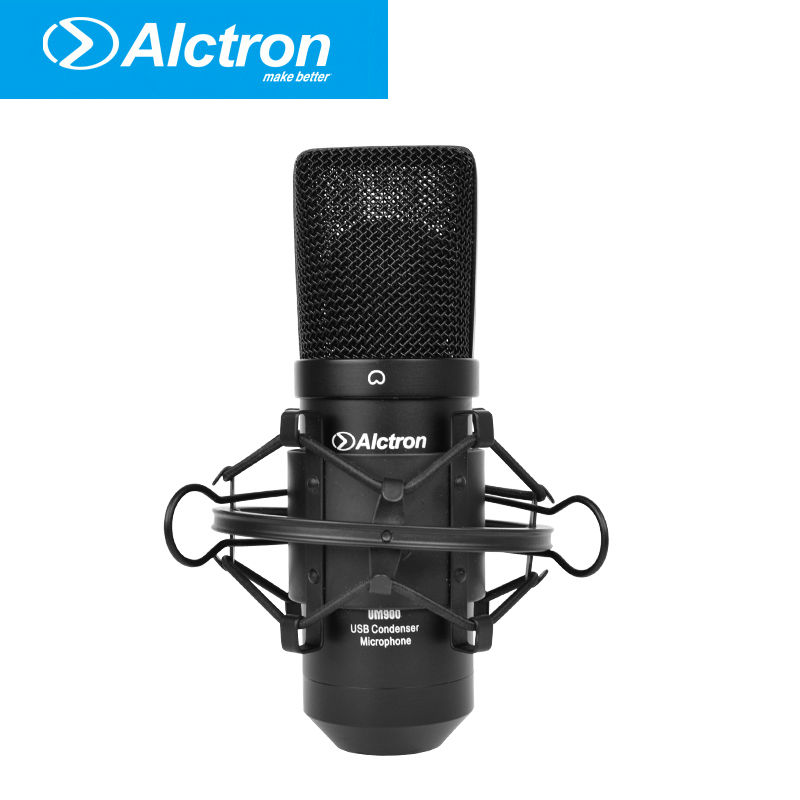 Alctron um900 Professional recording microphone Pro USB Condenser Microphone Studio computer microphone best quality yarmee multi functional condenser studio recording microphone xlr mic yr01