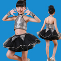 Новый джазовый танец костюмы девушки танцуют блестками повод юбка современный детский сад блестящий костюм