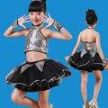 New jazz dance costumes Girls Dance sequined halter skirt modern kindergarten Shiny costume