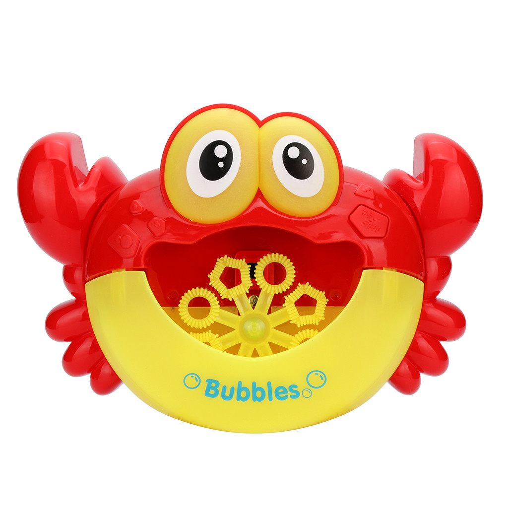 Kids Toy Cute Cartoon Crab Automatic Bubble Maker Lightly Ma