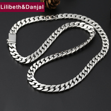 Hippop Initial Fashion 8mm Thick Africa Necklace Pendant 100% 925 Sterling Silver Men best friend chain Necklace Jewelry 2019 N3