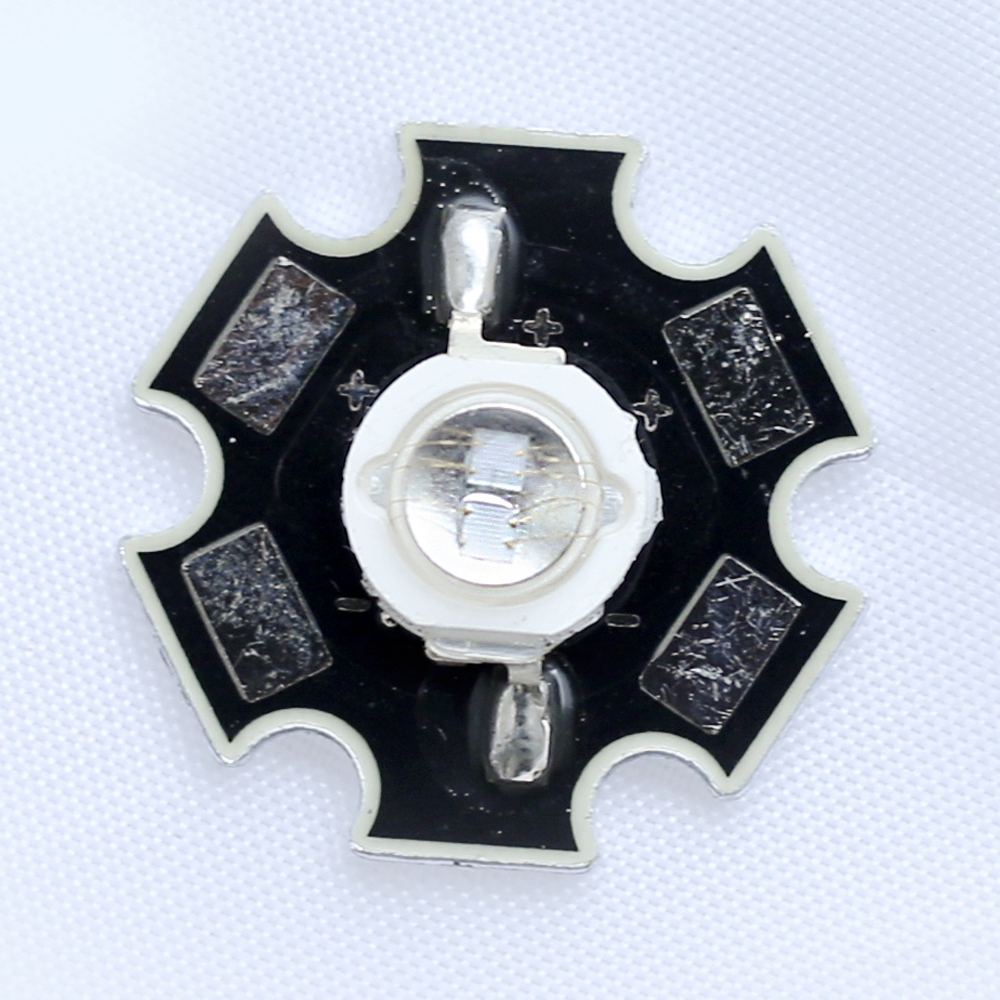 5pcs/lot 5w 365nm uv led high power led chip 1400mA with 20mm heatsink for leak hunting
