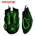 TK 2016 New Estone X9 Gaming Mouse 3200 DPI USB Wired Optical LED Computer Mice Mause for Laptop PC Gamer Upgraded version X5 X7