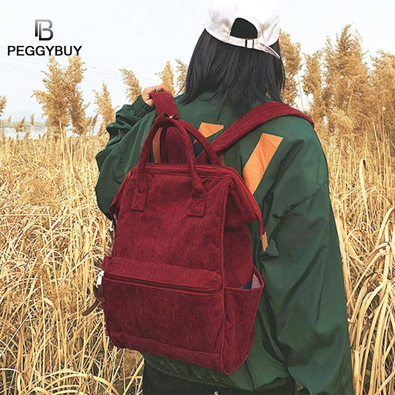 Women <font><b>Backpack</b></font> Solid Color Travel Bag Large Shoulder Bag <font><b>For</b></font> <font><b>Teenage</b></font> Girl Student <font><b>School</b></font> Bag Women Large <font><b>School</b></font> Top-handle Bags image