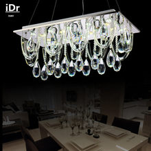 modern crystal Chandeliers Bedroom lamp Hall lights rectangular LED lamps Bedroom lamp Hall L600xW300xH1000mm(China)