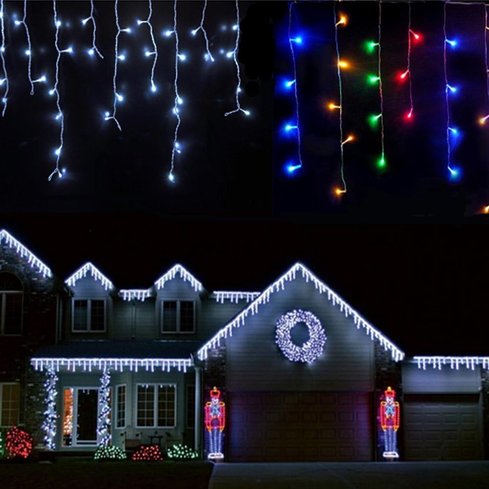 Christmas Led Lights.1pcs Christmas Lights Icicle 4m 96leds Icicle Lights Led