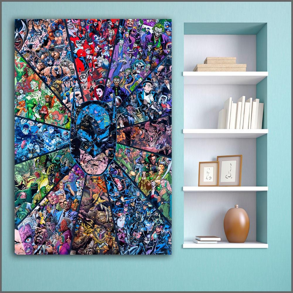 Home Decor Vendors: Aliexpress.com : Buy Large Size Printing Batman Vilains
