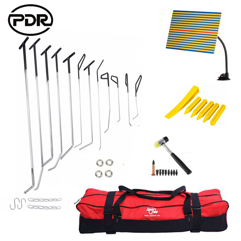 PDR Tools Hooks Push Rods Dent Removal Car Dent Repair Car Body Repair Kit Paintless Dent Repair Tap Down Tools Set pdr hook tools 30 pcs push rods dent removal tools paintless dent repair tools car body repair kit 13 blue 8 green 9 red
