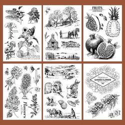 1 шт. силиконовый прозрачный марки Скрапбукинг прозрачный лес животный мир, растение DIY жизнь простой печать записки офисные принадлежности