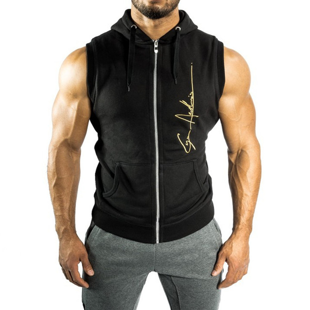 cf299e88b8e6 Aesthetic Revolution Tracksuit Vests Hoodies Fitness Workout Shark Waistcoat