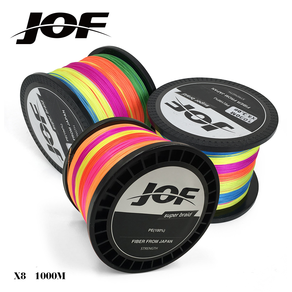 Extreme strong jof 1000m 1000m multicolor braid for 20 lb braided fishing line