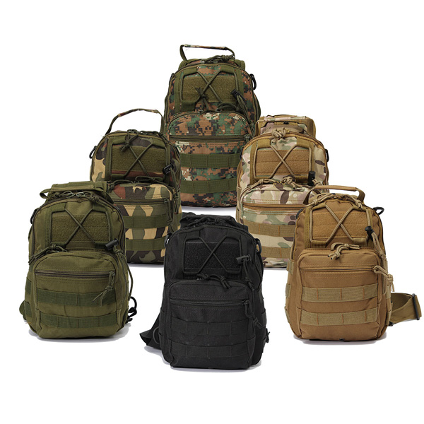 6Colors Outdoor Sport Nylon Tactical Military Bags Sling Single Shoulder Chest Bag Pack camping hiking Backpack