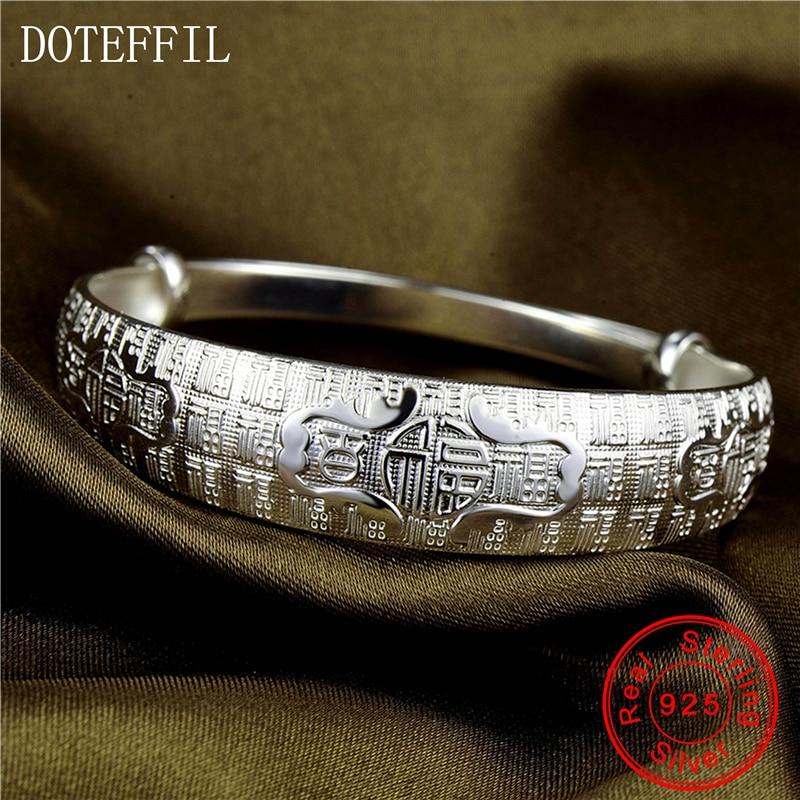 999 Silver Chinese Style Bracelets Bangles Open Adjustable Bracelet 28g Silver Bracelet Jewelry все цены