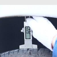 LCD Thép Không Gỉ Kỹ Thuật Số Tread Sâu Đo 0.01 mét Tyre Tread Sâu Đo Caliper Tread Thước Metric/inch Interchange 0-25 mét