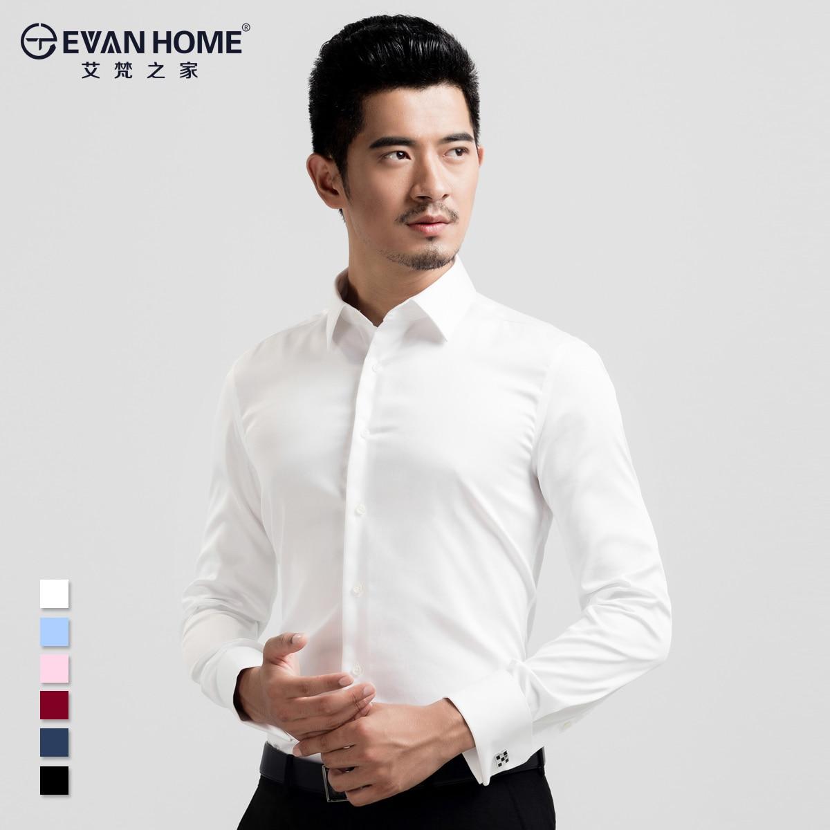 Ai Van Home Mercerized Cotton Long Sleeved Shirt Mens Slim