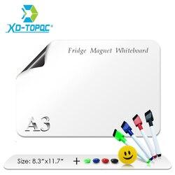 A3 белая доска 12 x 17 гибкие магниты на холодильник Водонепроницаемый дети белая доска для рисования сообщение магнитная доска на холодильни...