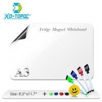 "A3 Whiteboard 12"" x 17"" Flexible Fridge Magnets Waterproof Kids White Drawing Board Message Magnetic Refrigerator Boards FM05"