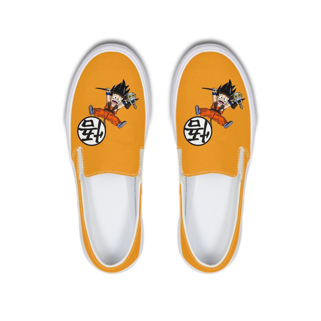 Super Saiyan Goku Anime Dragon Ball Autumn Canvas Flat Lazy Shoes Women/Men Solf Rubber Ladies Loafer Female Sneakers Footwear
