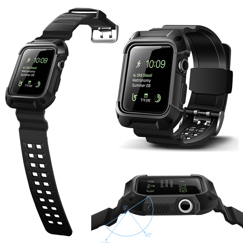 BUMVOR TPU Rubber Watchband with Protective Case for 40/44MM 38/42MM iWatch Series 4/3/2/1 Apple Watch Band Wrist Strap Bracelet цена и фото