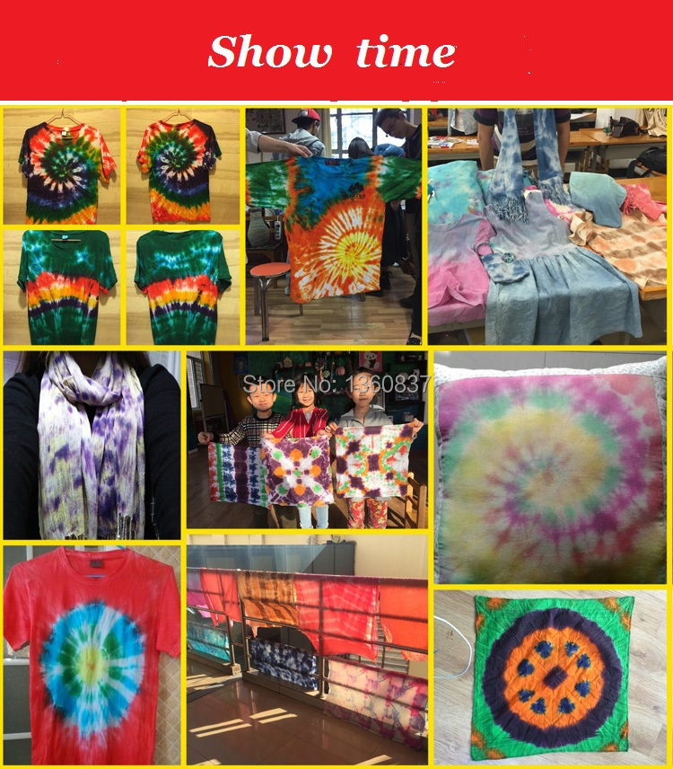 tie-dye DIY clothing dye clothing use cold water directly dye cotton and linen bag mail green pigment package