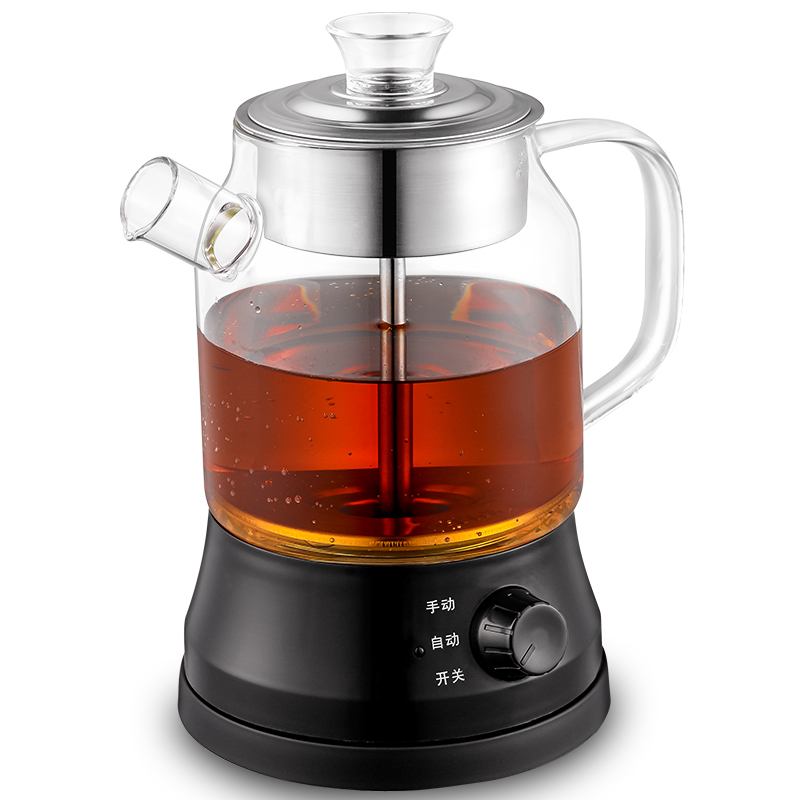Brew tea ware black fully automatic glass boiled pot boiling pu 'er electric kettle/electric kettle chinese yunnan puer 60g old ripe pu erh tea loose shu pu er tea green orangic food pu erh tea blood pressure slimming tea
