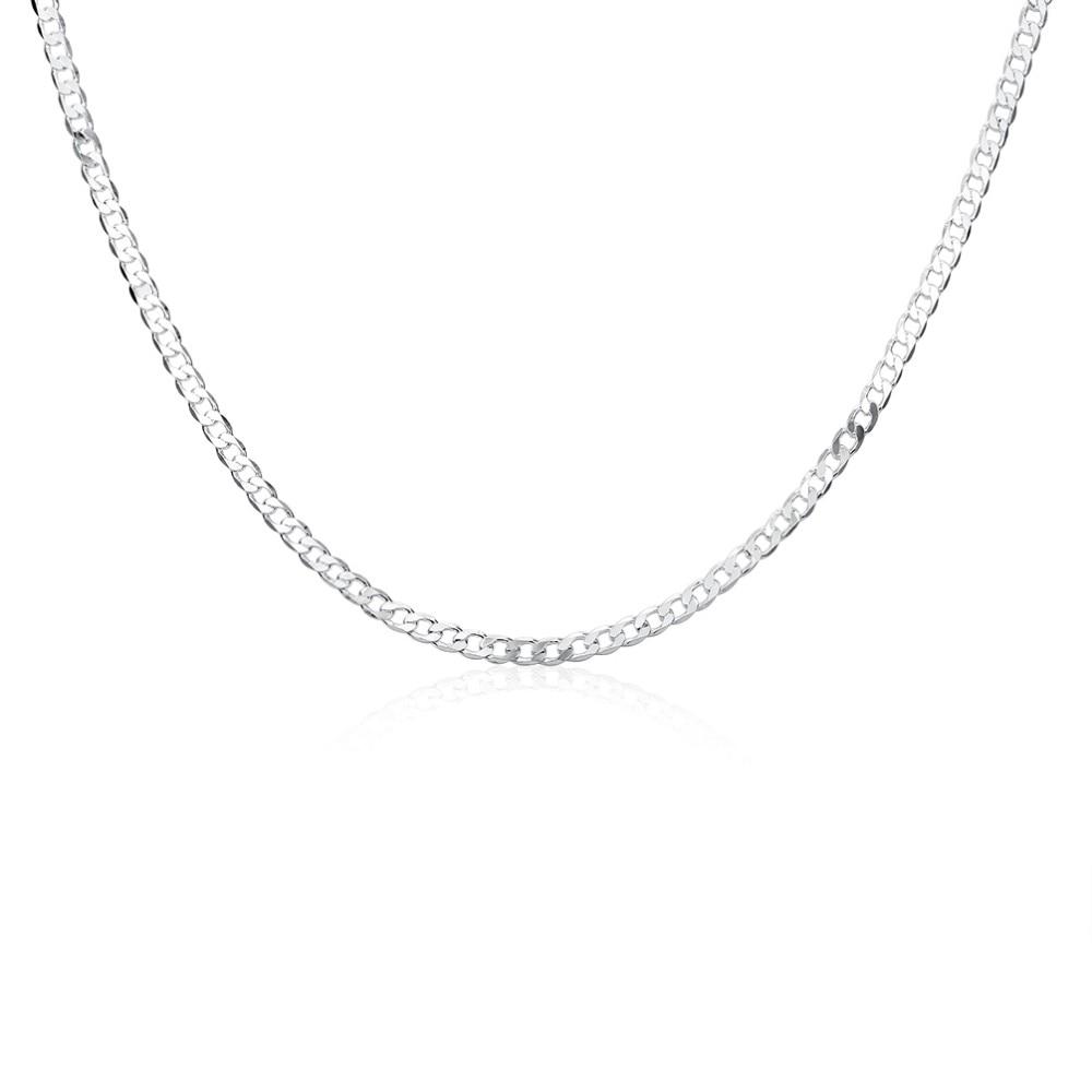 c4c0538aab3d Nuevo diseño Venecia Figaro cadenas collares de la joyería de los hombres  de plata collar de declaración hombre gargantilla cubano acera enlace cadena  ...