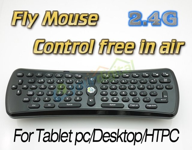 Original 2.4G Fly mouse keyboard  for Tablet PC/Smart Phone/HTPC/Google TV free control in air
