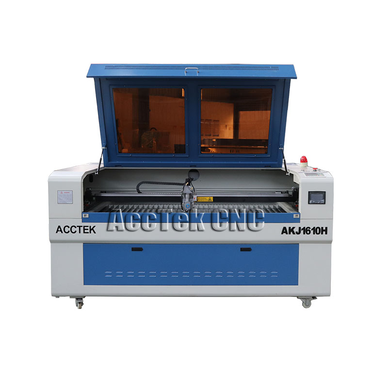 Co2 Sheet Laser Cutter For 3mm Steel/ Acctek Cnc Laser Metal Cutting Machine 1610 For Ss, Cs, Wood, Acrylic